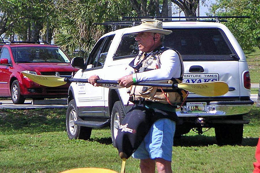 A Kayak Instructor Teaches a Class