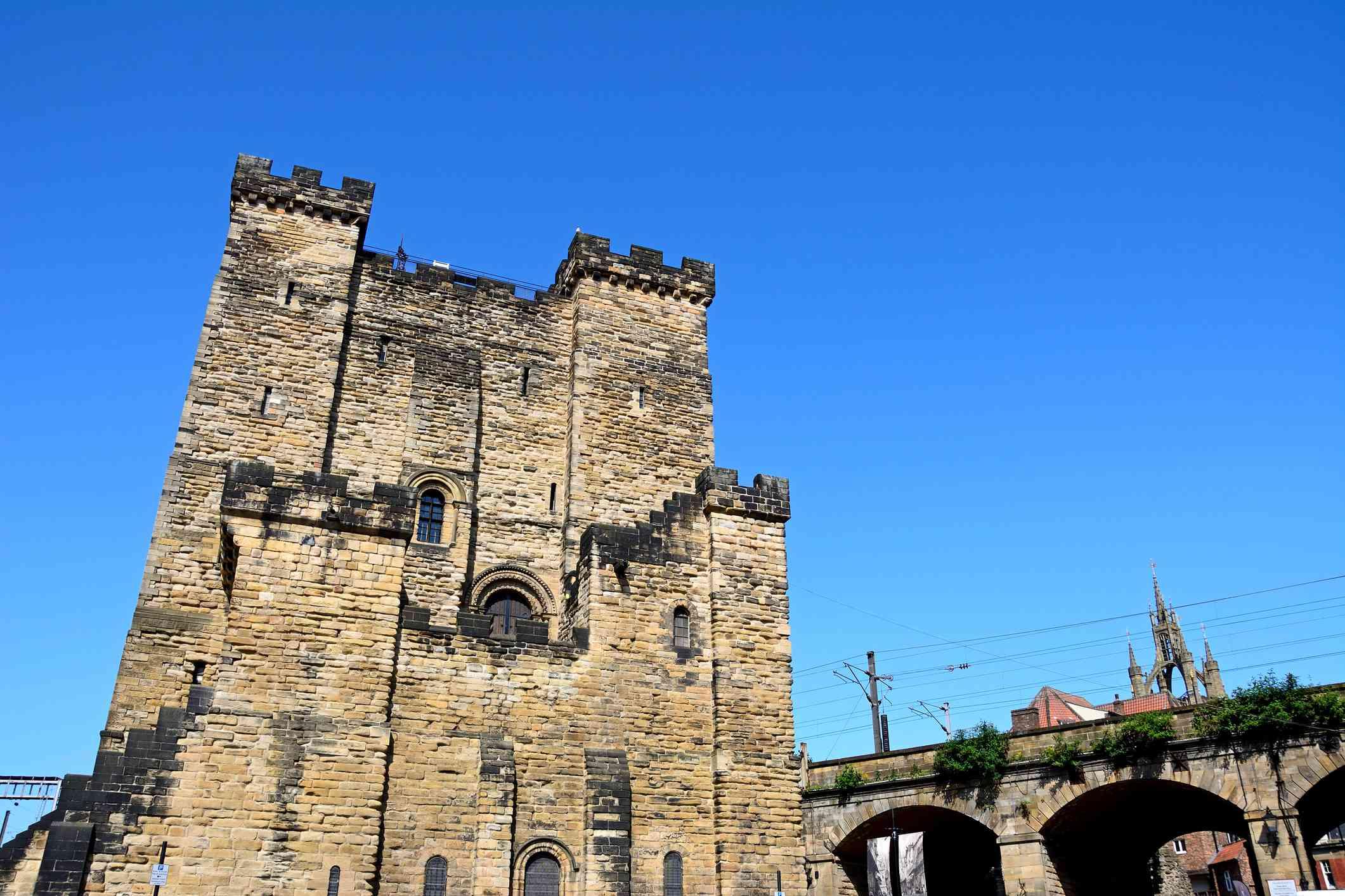Medieval Castle, Newcastle Upon Tyne, UK.