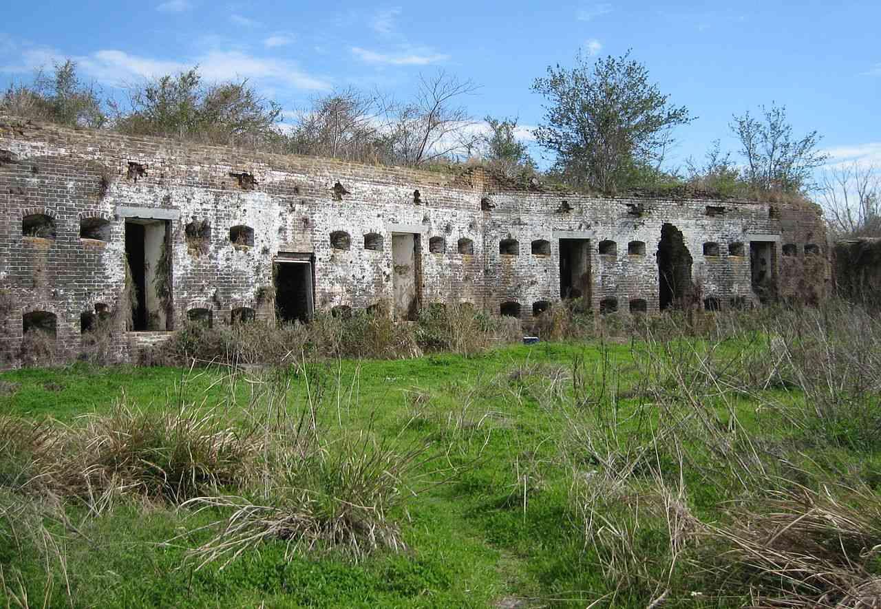 Fort Macomb ruins in Louisiana
