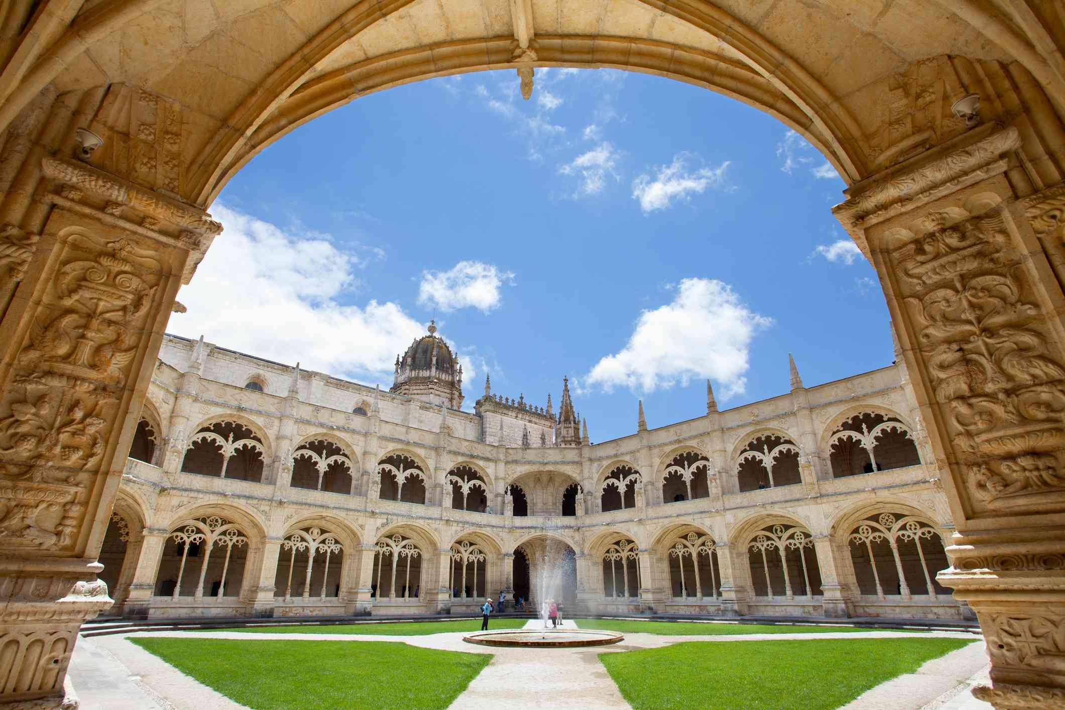 Portugal, Jeronimos Monastery at Belem in Lisbon