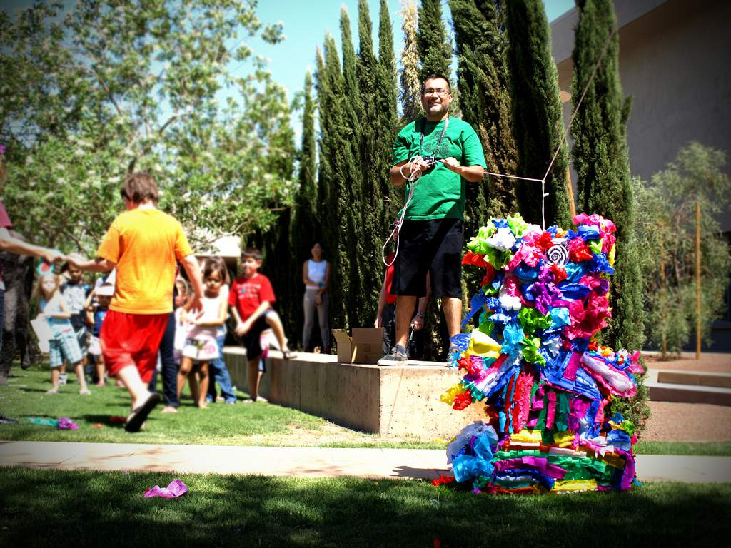 Make and break a pinata with, Lalo Cota, at Phoenix Art Museum