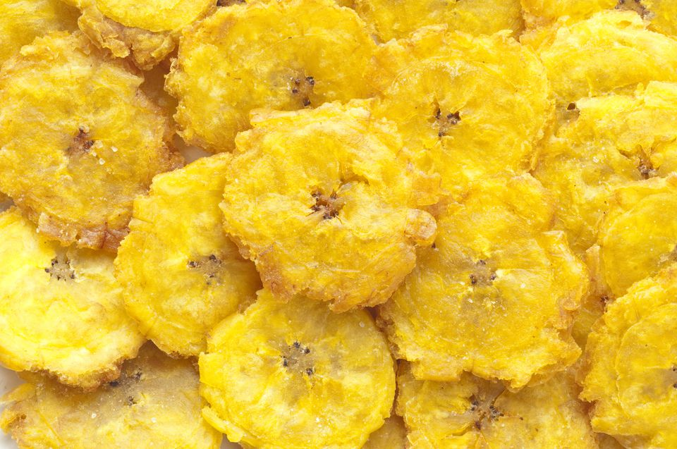 Tostones, fried plantains