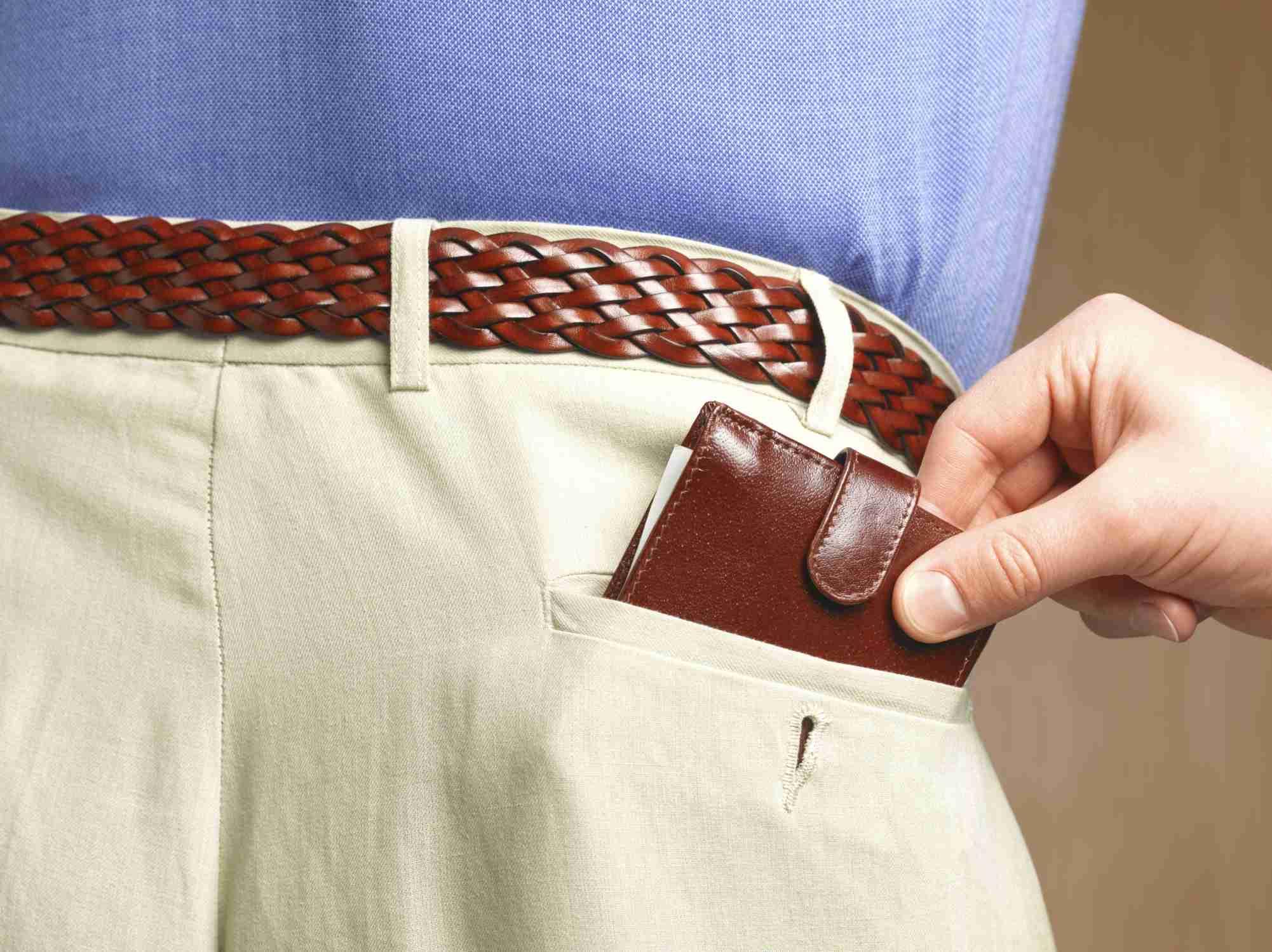 Pickpocket stealing wallet