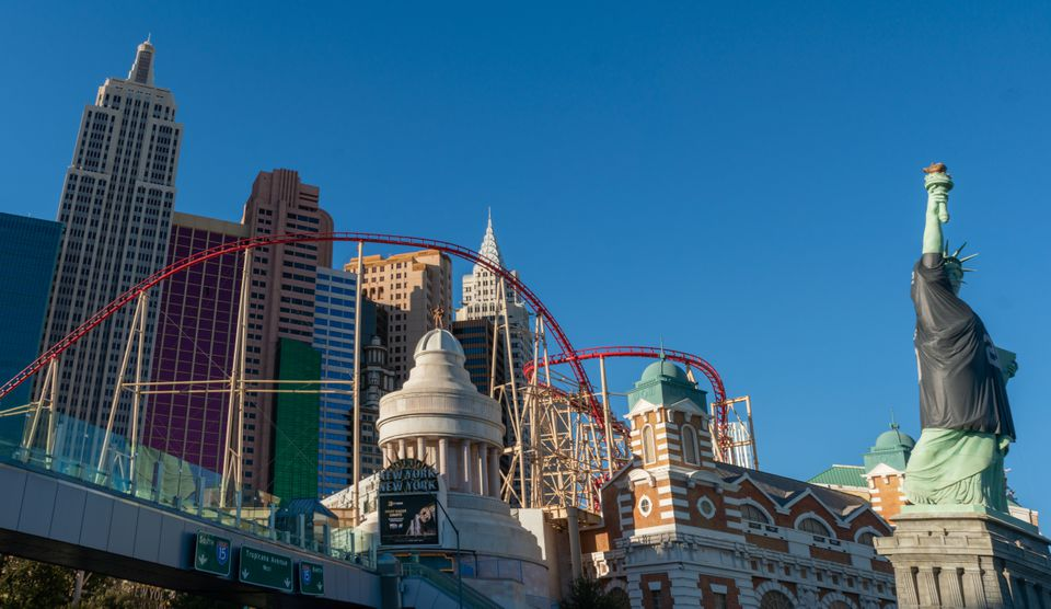 Big Apple Coaster at New York New York in Las Vegas