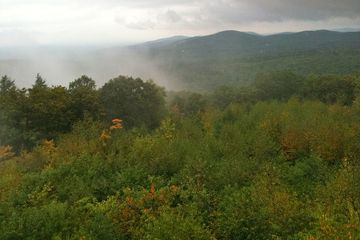 View from Soapstone Mountain summit lookout tower in Connecticut's Shenipsit State Forest.