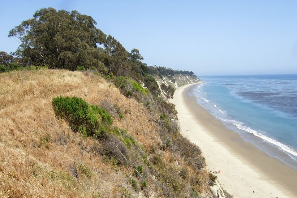 View of More Mesa Beach in Santa Barbara