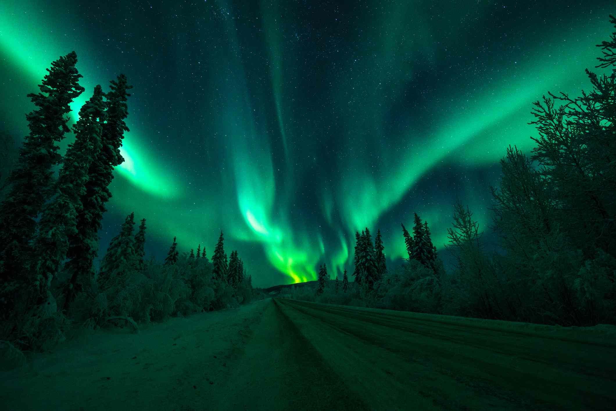 Beautiful view of the Aurora Borealis