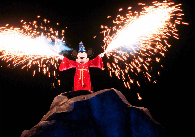 Fantasmic Musical Show with Pyrotechnics at Disney World