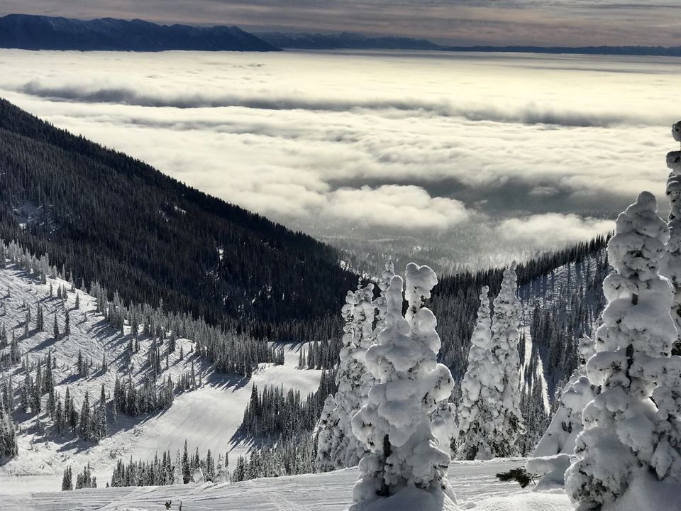 Skiing Views at Whitefish Mountain Resort