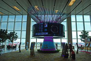 Changi Airport display, Singapore