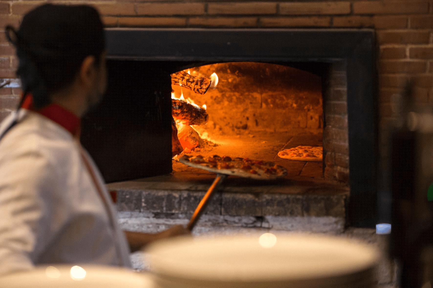 Brick-oven pizza from Mamma Mia Ristorante Italiano