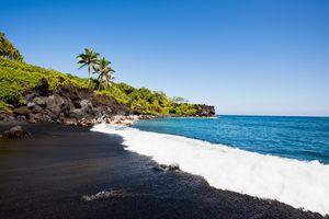 Waianapanapa Black Sand Beach, Hana, Maui