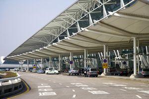 Outside Guangzhou airport