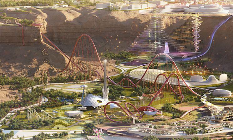 Falcon's Flight Six Flags Qiddiya