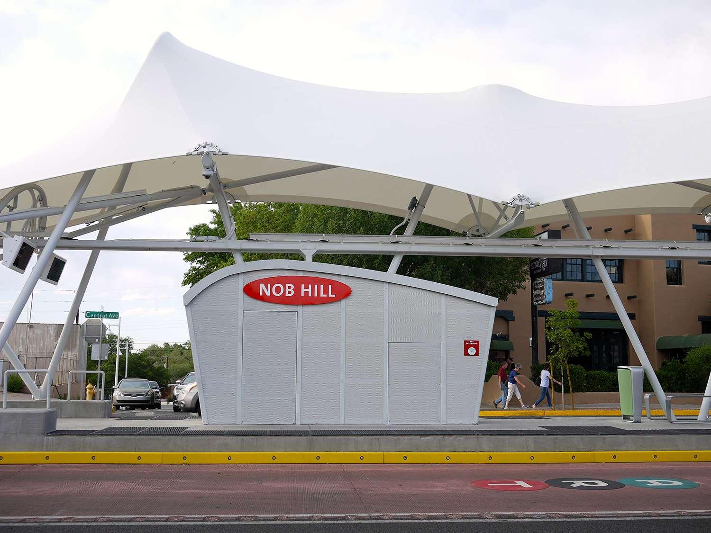 Nob Hill Bus Stop In Albuquerque
