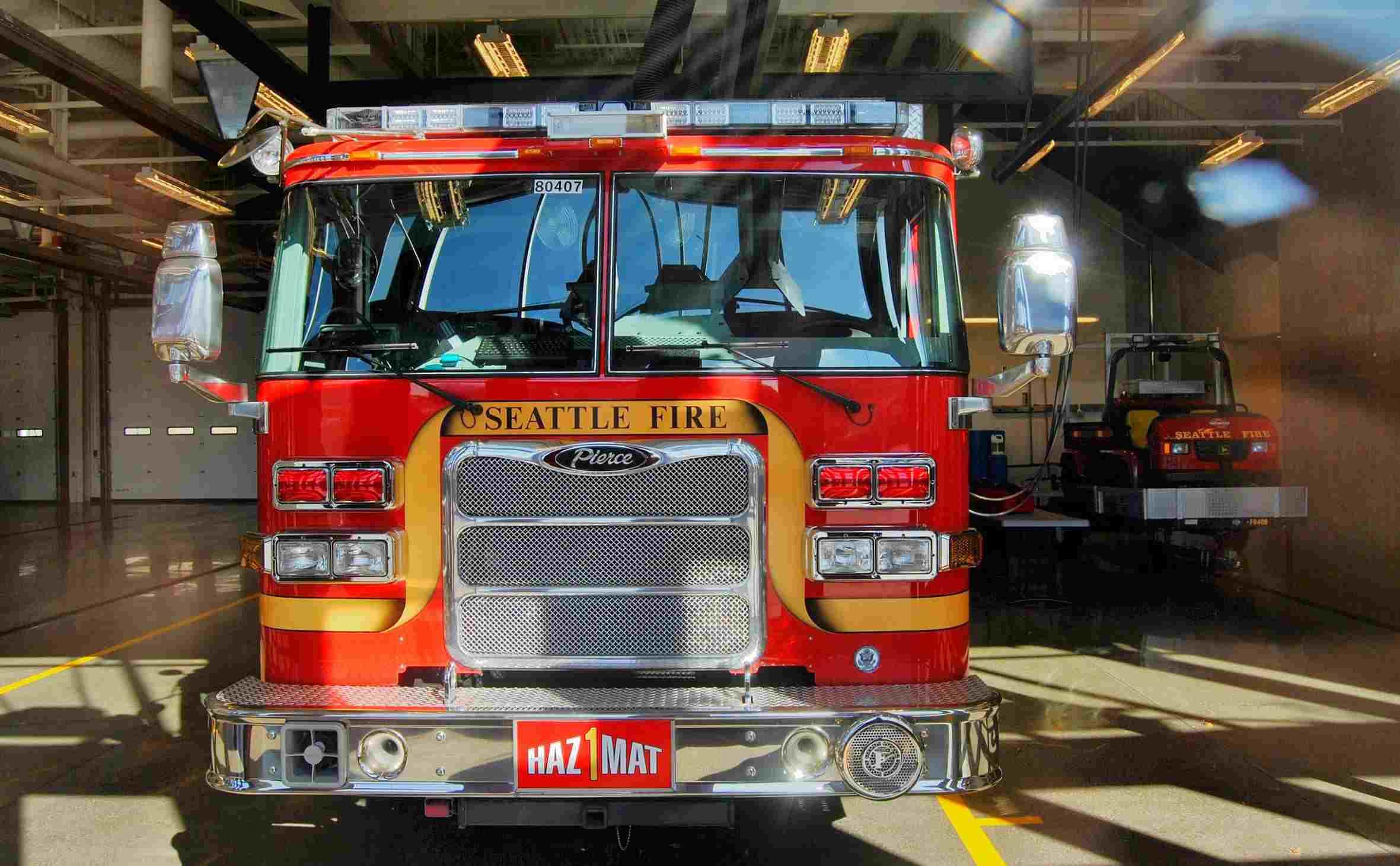 Firetruck at Last Resort Fire Department in Seattle