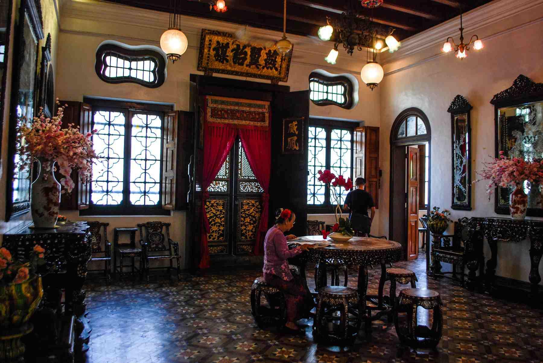 Inside the Ladies Quarters at the Peranakan Mansion, Penang, Malaysia