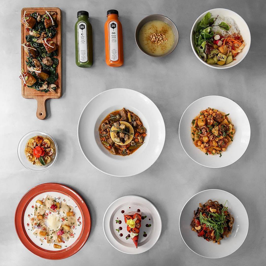 Dishes of the day at Teresa Carles in barcelona