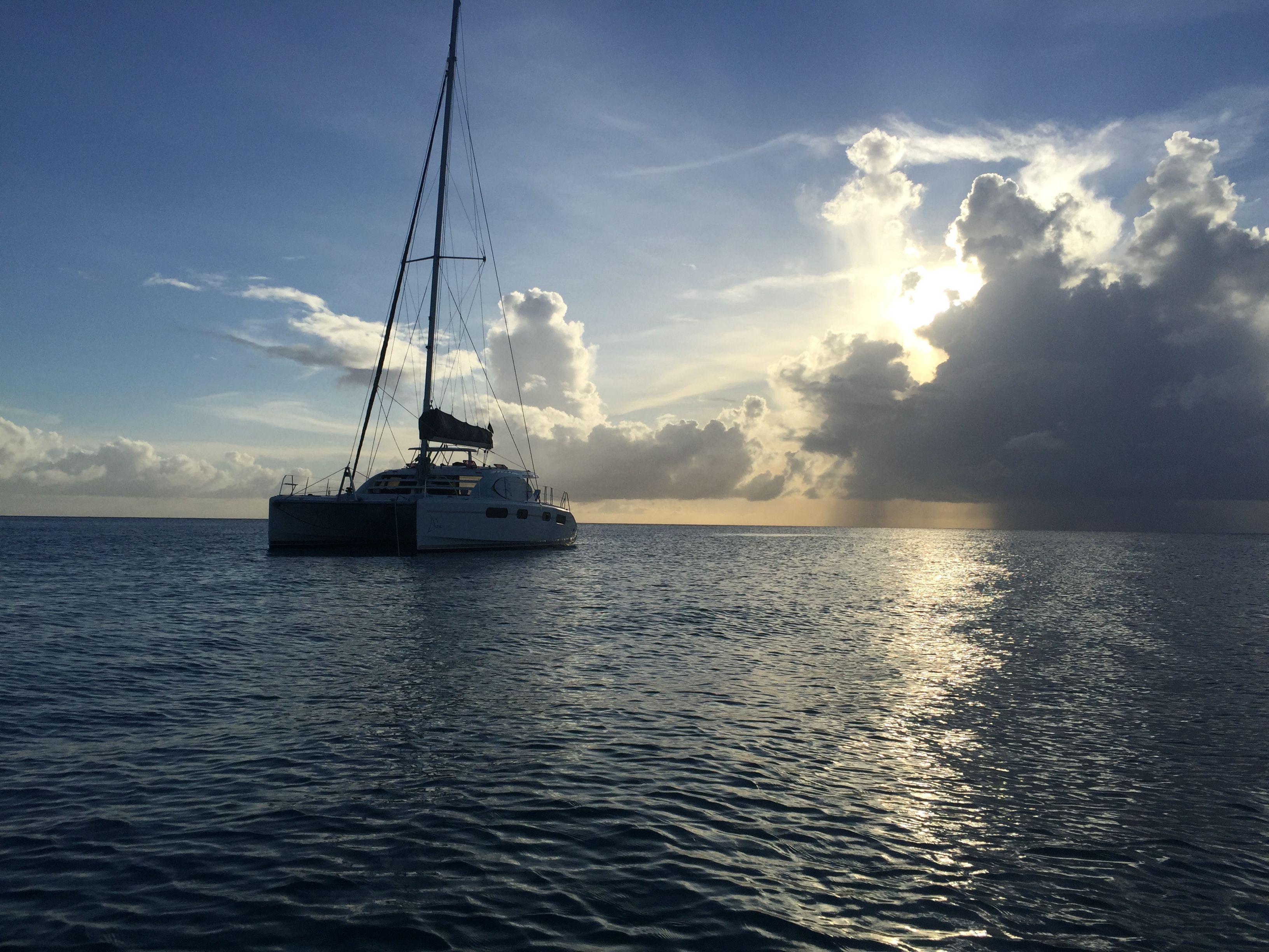 Sunset catamaran ride