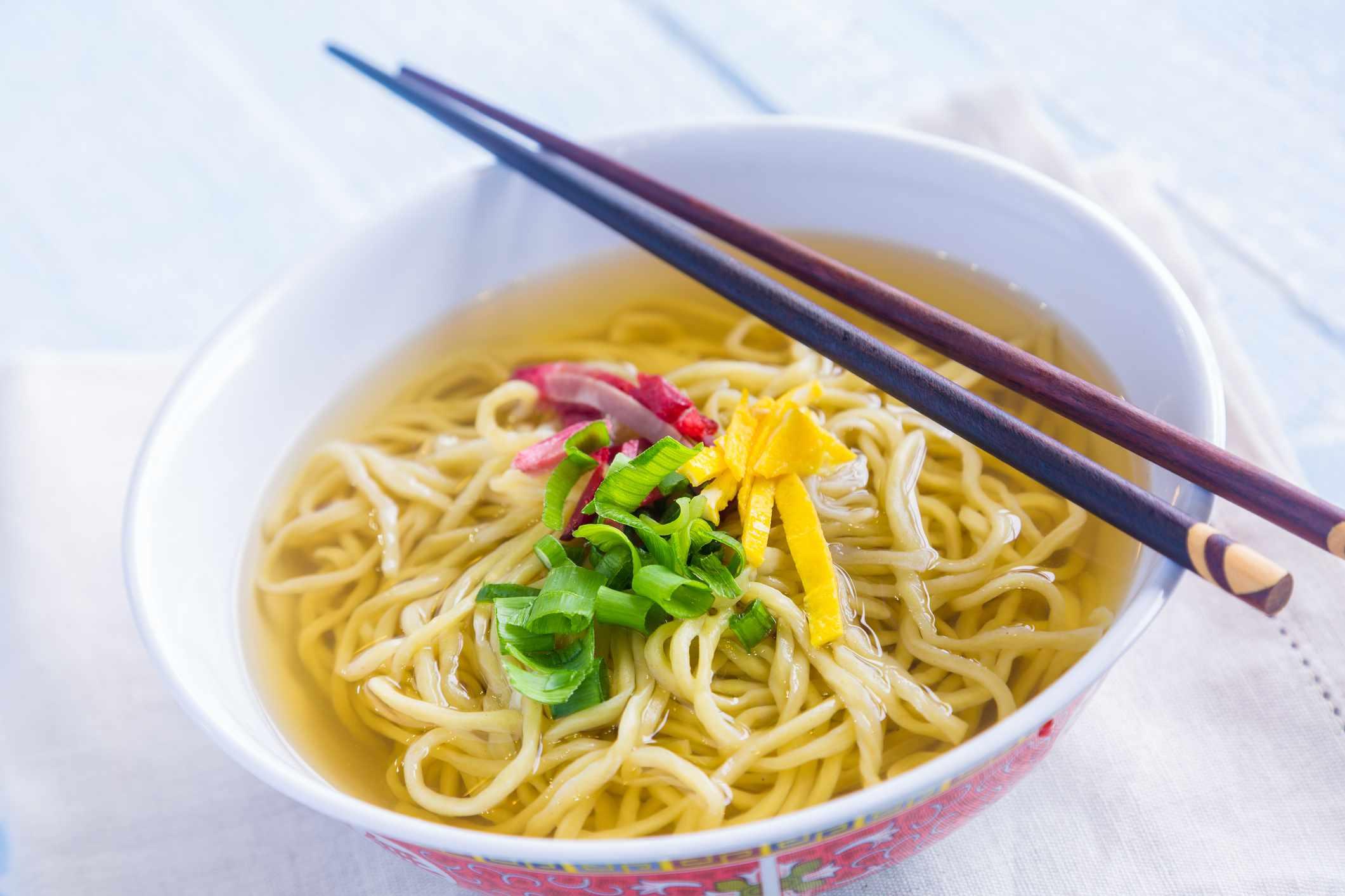 Saimin noodle soup