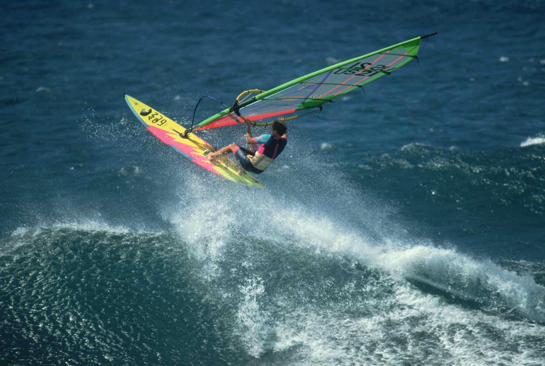 Windsurfer at Ho'okipa Beach Park, Maui