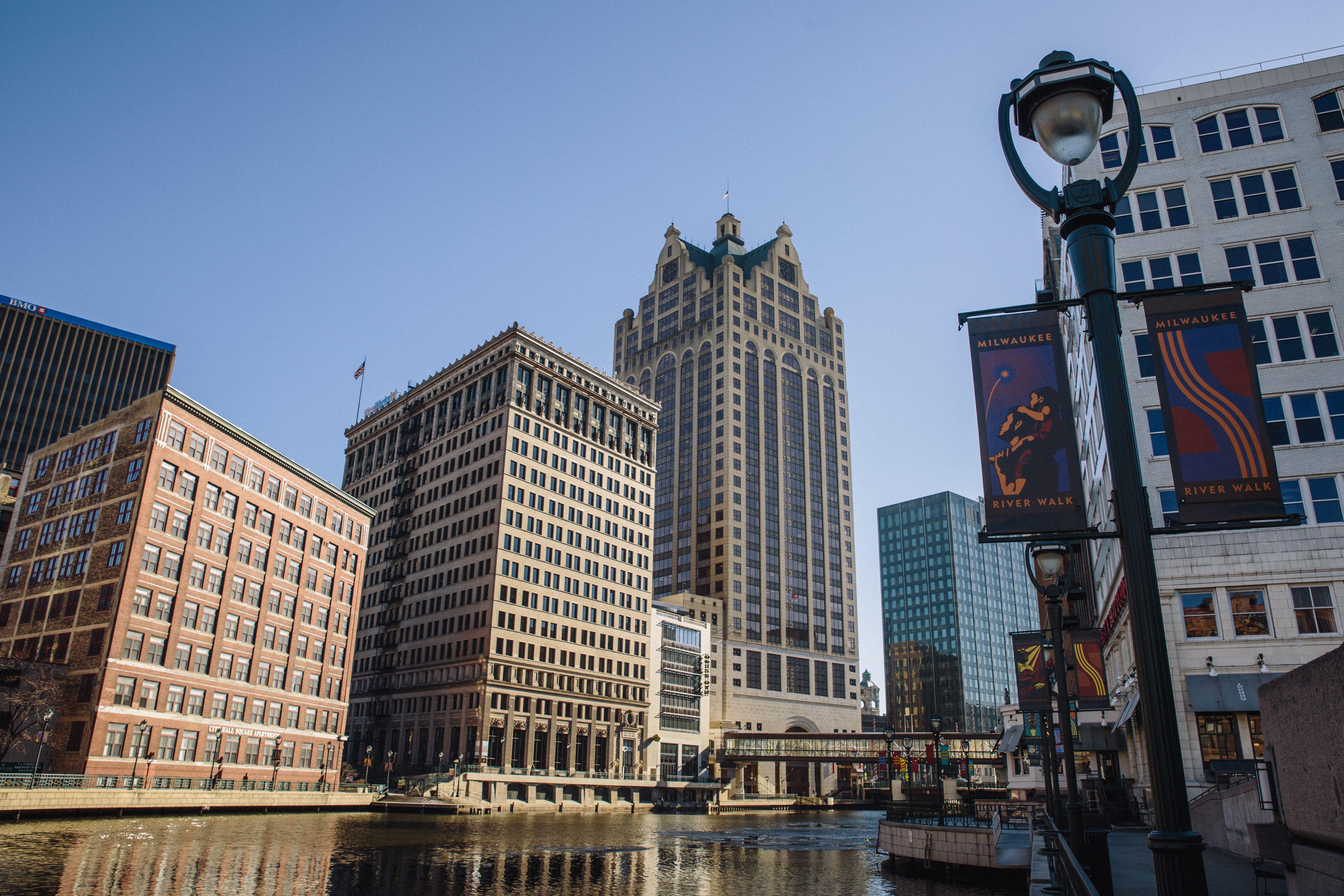 El río caminar en Milwaukee