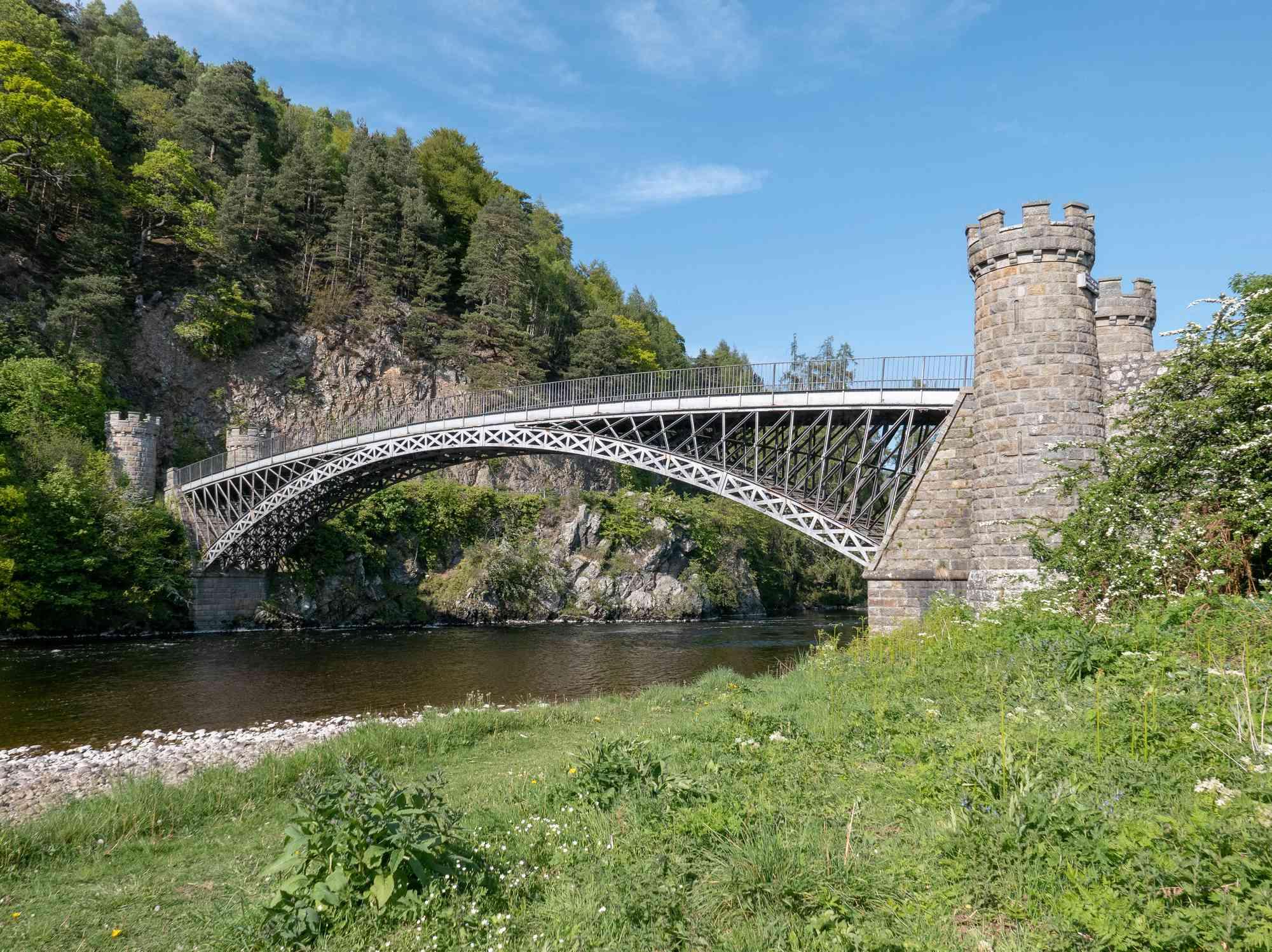 Craigellachie Bridge spanning the River Spey