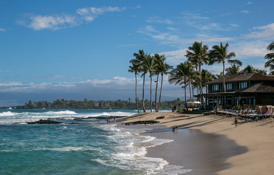 A beach at the Four Seasons Hotel Hualalai