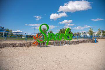 Sign for the Sparks Marina Beach Park