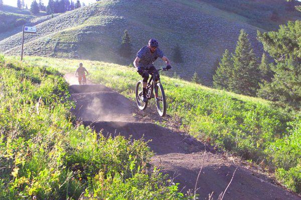 Mountain biker at Soldier Mountain