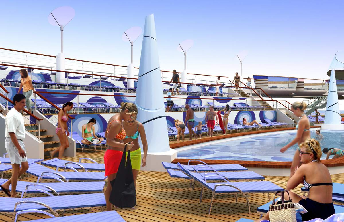 Oasis of the Seas - Main Swimming Pool on the Oasis of the Seas from Royal Caribbean International