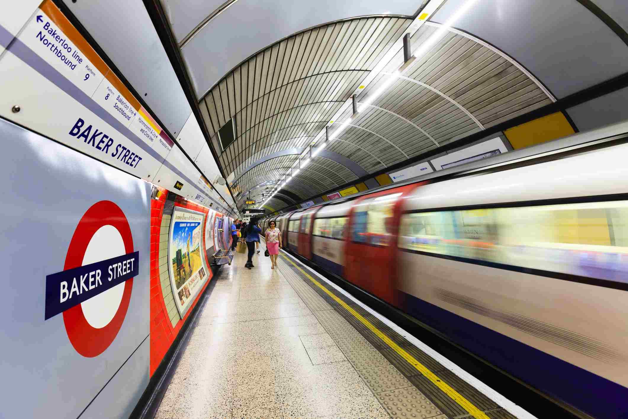 Baker Street Station en el metro de Londres