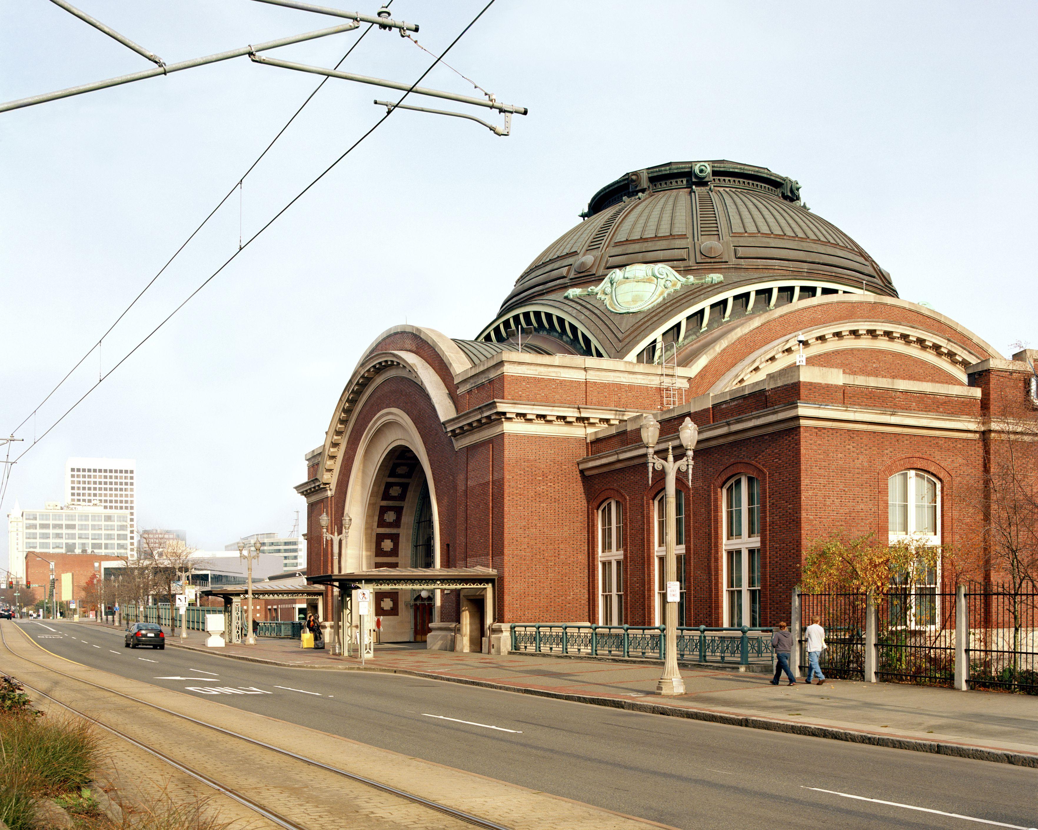 Outside the Historic Union Station, Tacoma, Washington