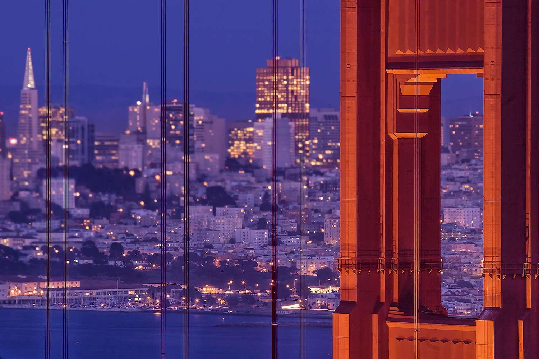 Golden Gate Bridge and San Francisco at Twilight