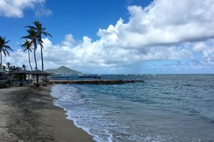 Nevis Island in the Caribbean