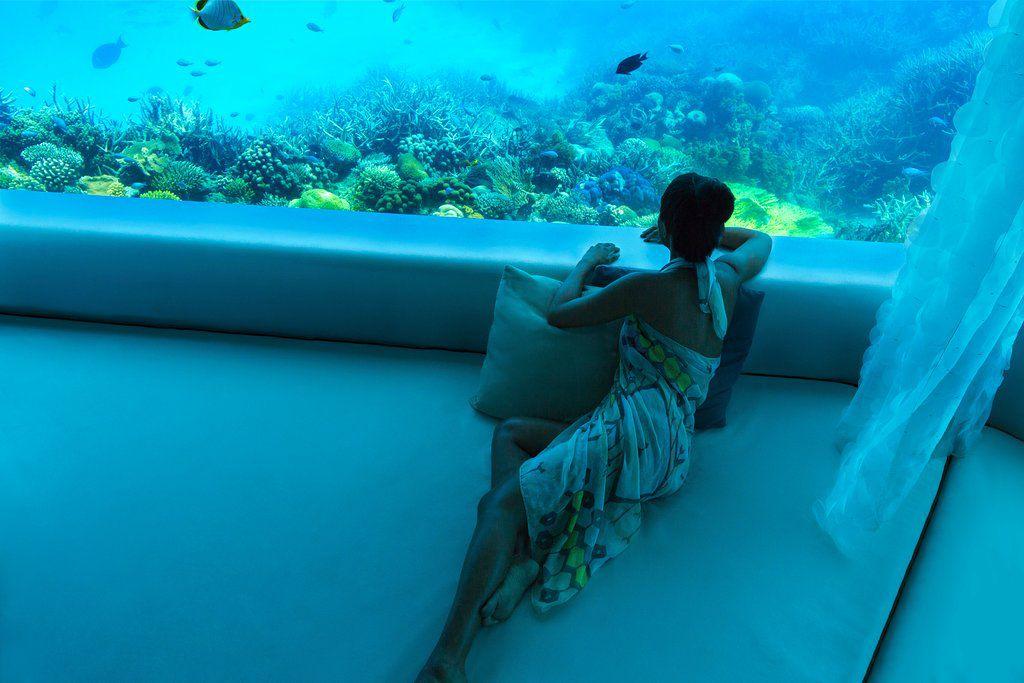 The underwater spa at Huvafen Fushi Maldives
