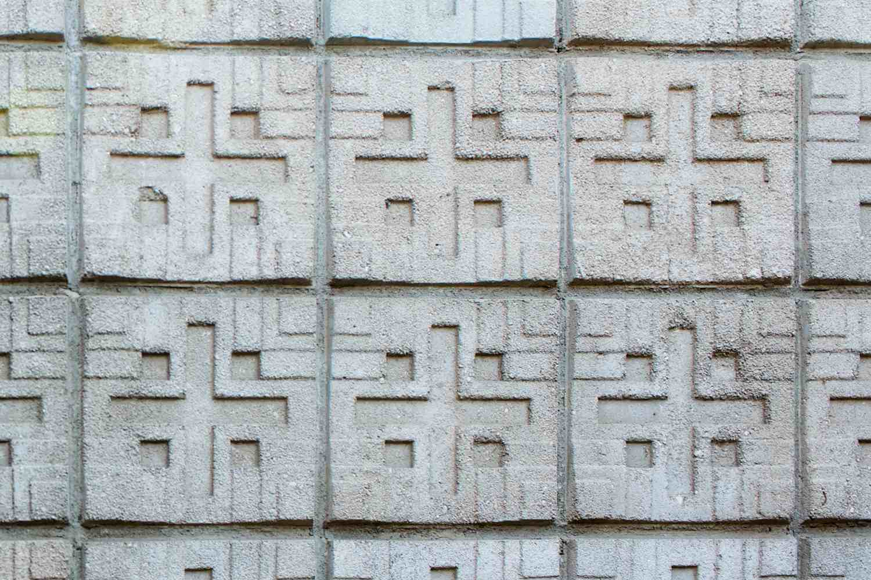 Textile Block Detail, Millard House