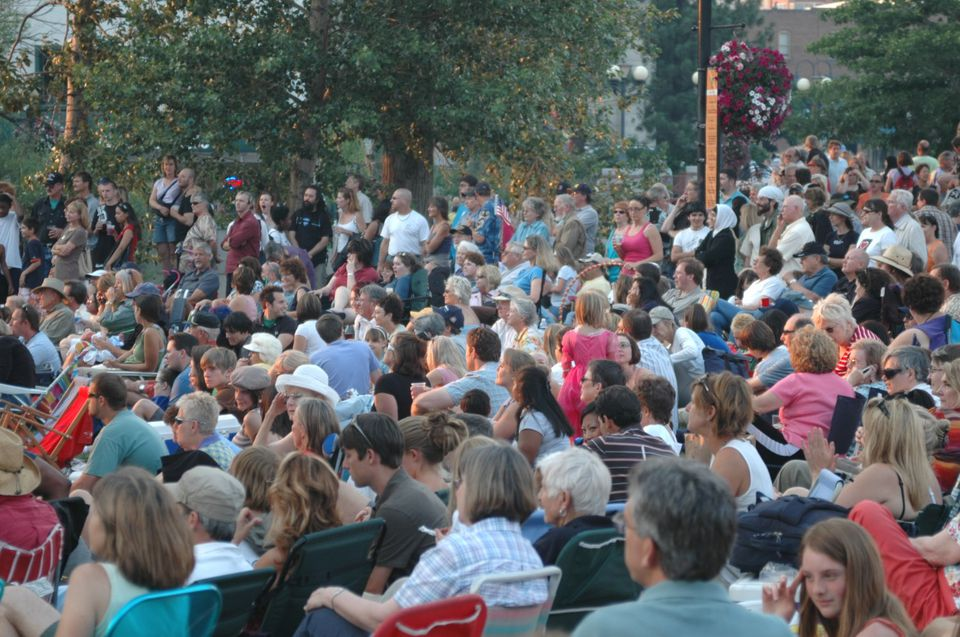 Artown opening night at Wingfield Park in Reno, Nevada.