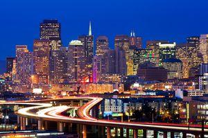 Freeway into San Francisco
