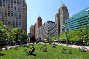 Campus Martius Park in Detroit, Michigan