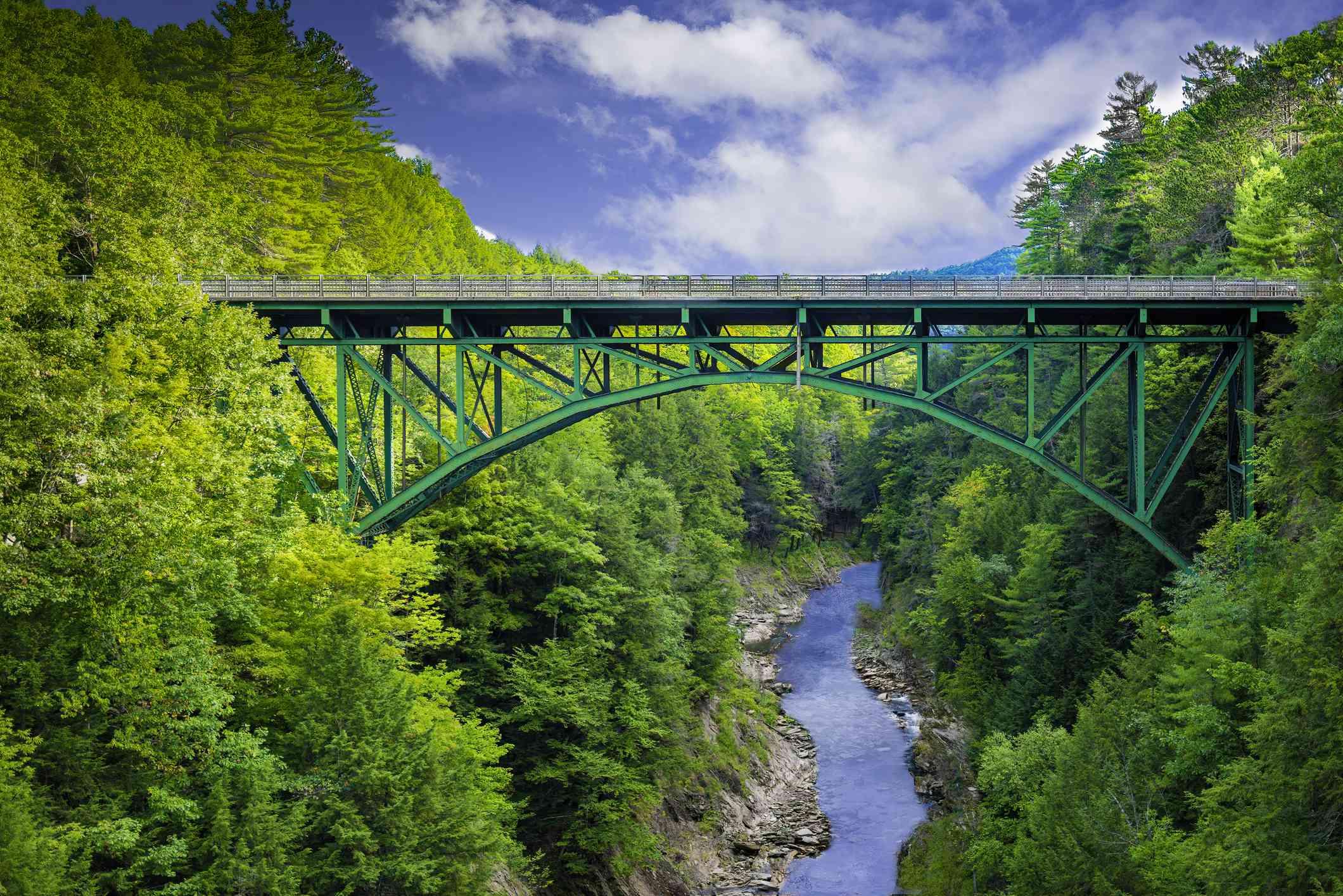 Route 4 Quechee Gorge Bridge over the Ottauquechee RIver in Vermont