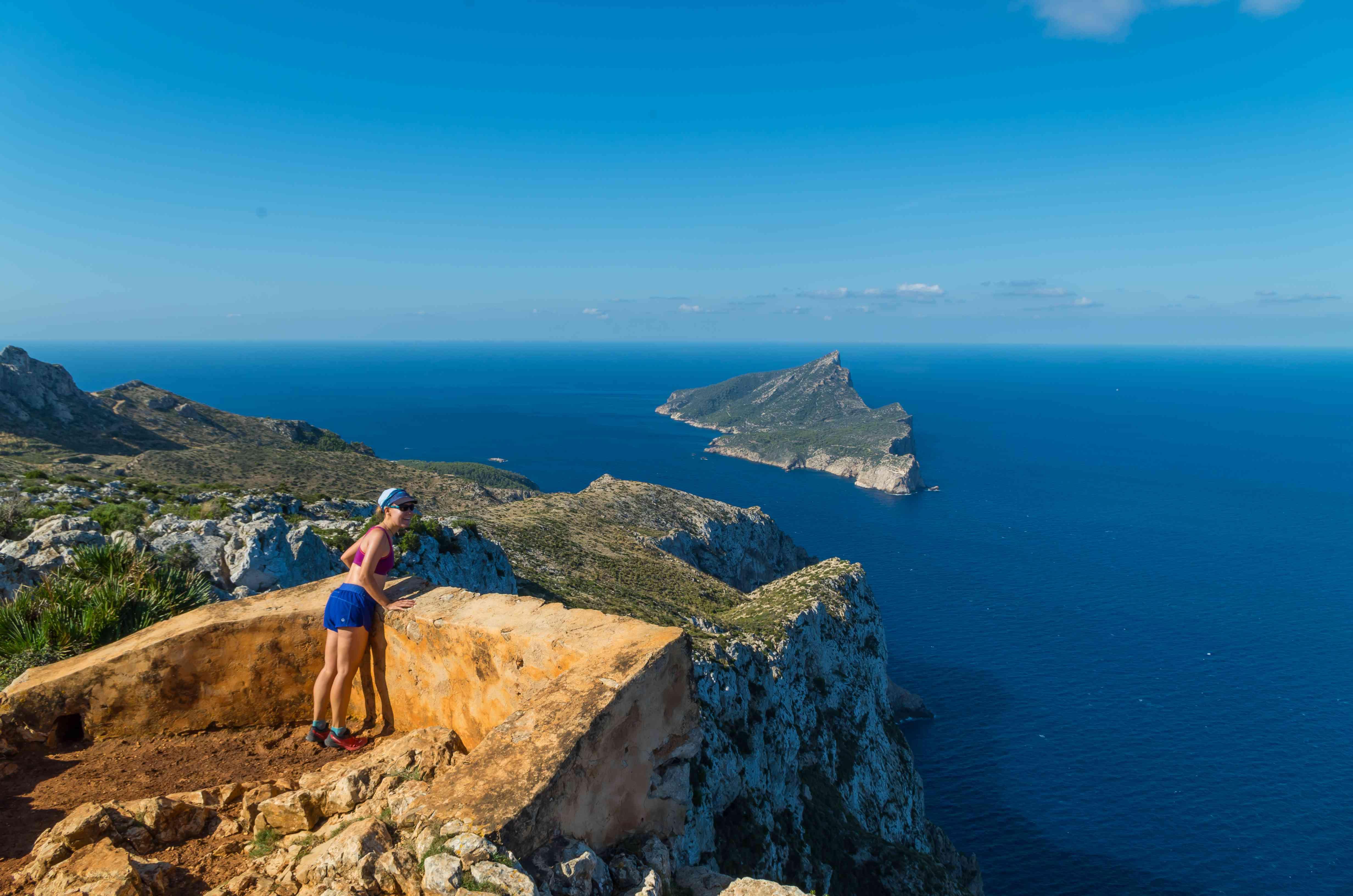 Hiking on the GR 221, Mallorca, La Dragonera in background