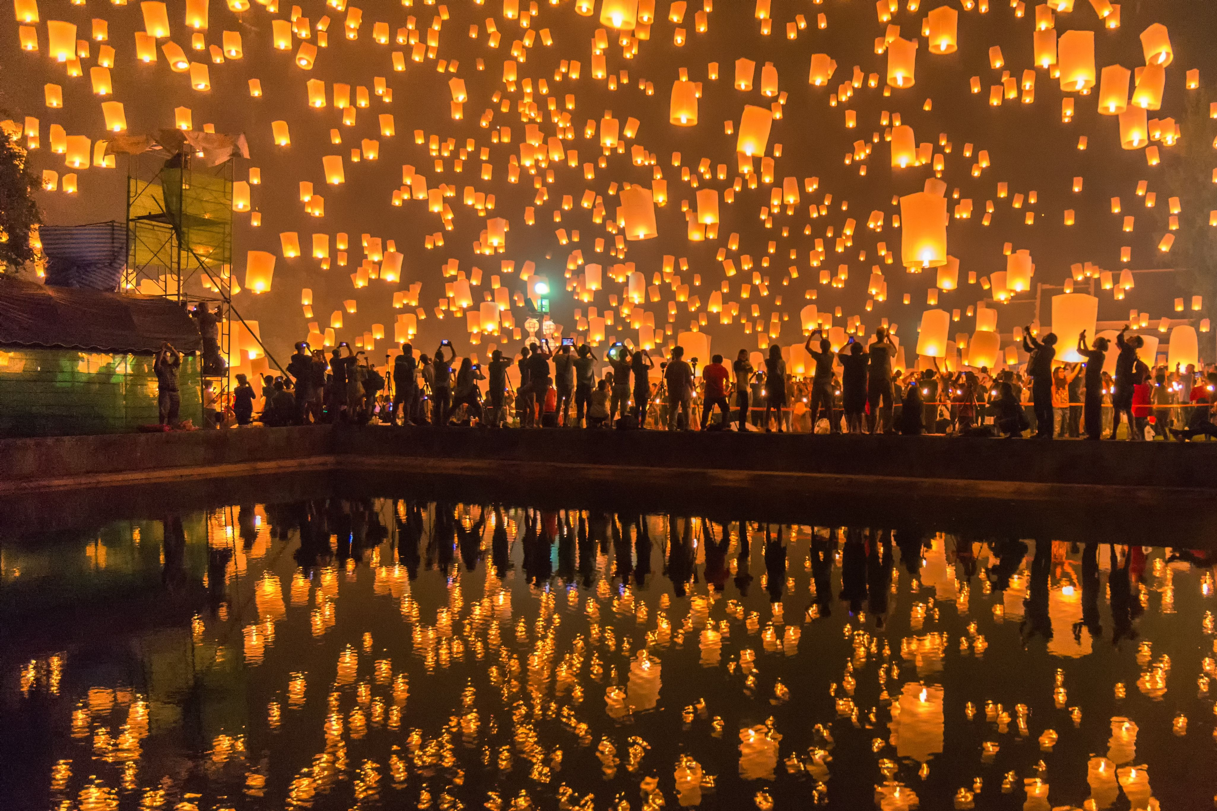 Linternas de Loi Krathong / Yi Peng en Tailandia