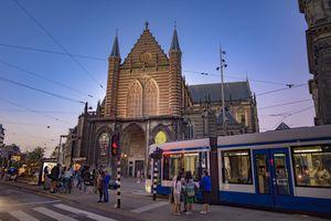 Nieuwe kerk (New church), Dam square, Amsterdam city center.