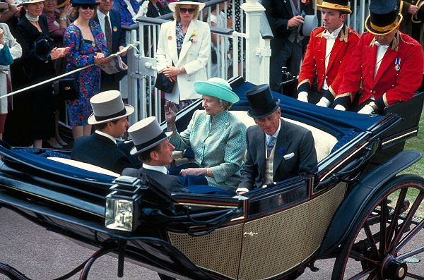 Her Majesty Queen Elizabeth and Prince Philip Arrive at Royal Ascot