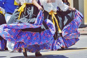 Female Dancers During Cinco De Mayo