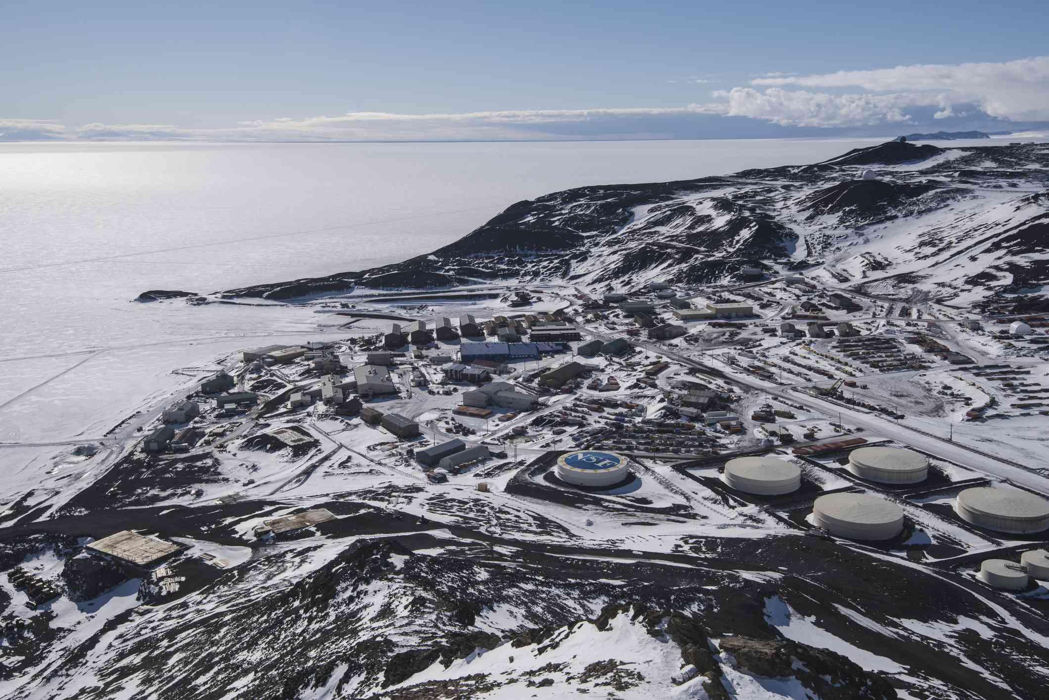 McMurdo Antarctic Research Station from Observation Hill