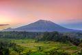 Mount Agung during rainy season on Bali