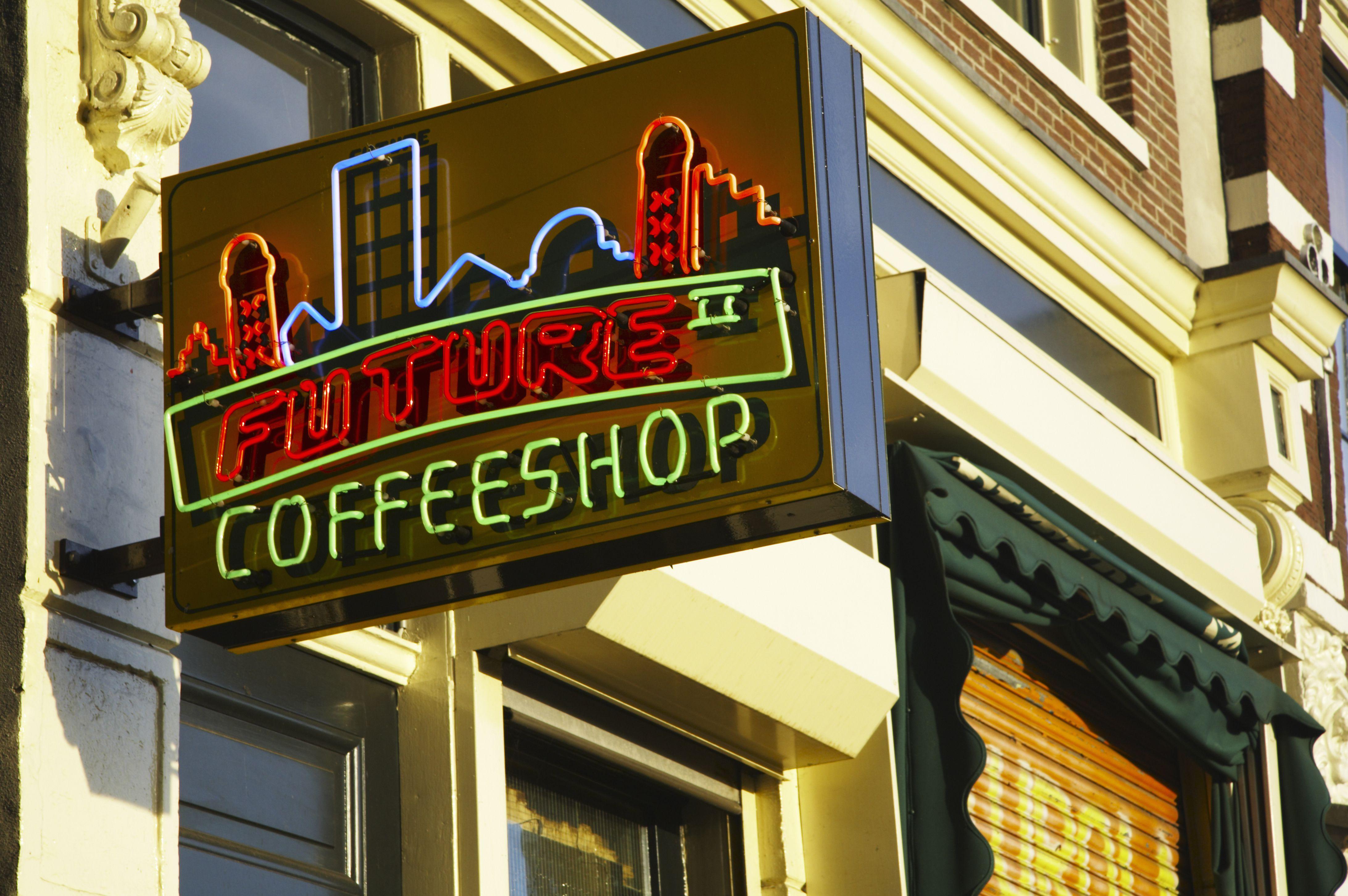 Coffee shop Future, establecimiento para fumar cannabis en la ciudad de Amsterdam. Países Bajos, Holanda del Norte, Amsterdam