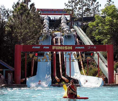 The Downhill Double Dipper is another Blizzard Beach racing ride.